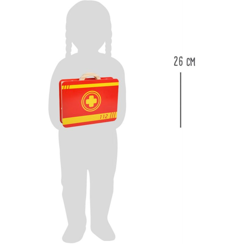 dimensiones Maletín Médico - Juguete de Madera - 14 piezas