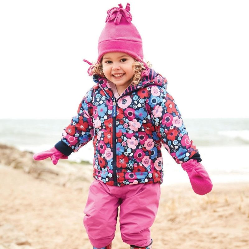 Gorro Polar con Orejeras para Niños fucsia
