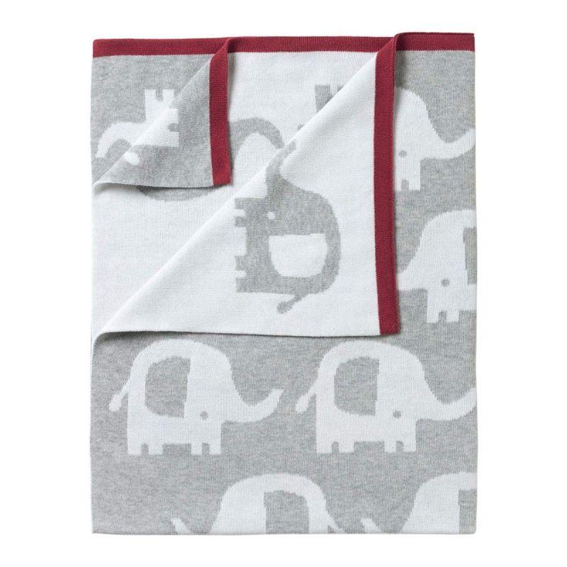 Manta reversible Eli el Elefante - 70 x 90 cm - Clair de Lune