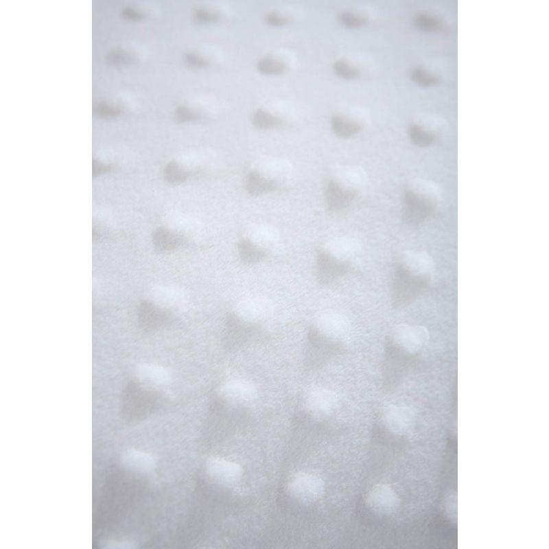 Manta 70 x 90 cm , modelo Dimple color blanco, Clair de Lune