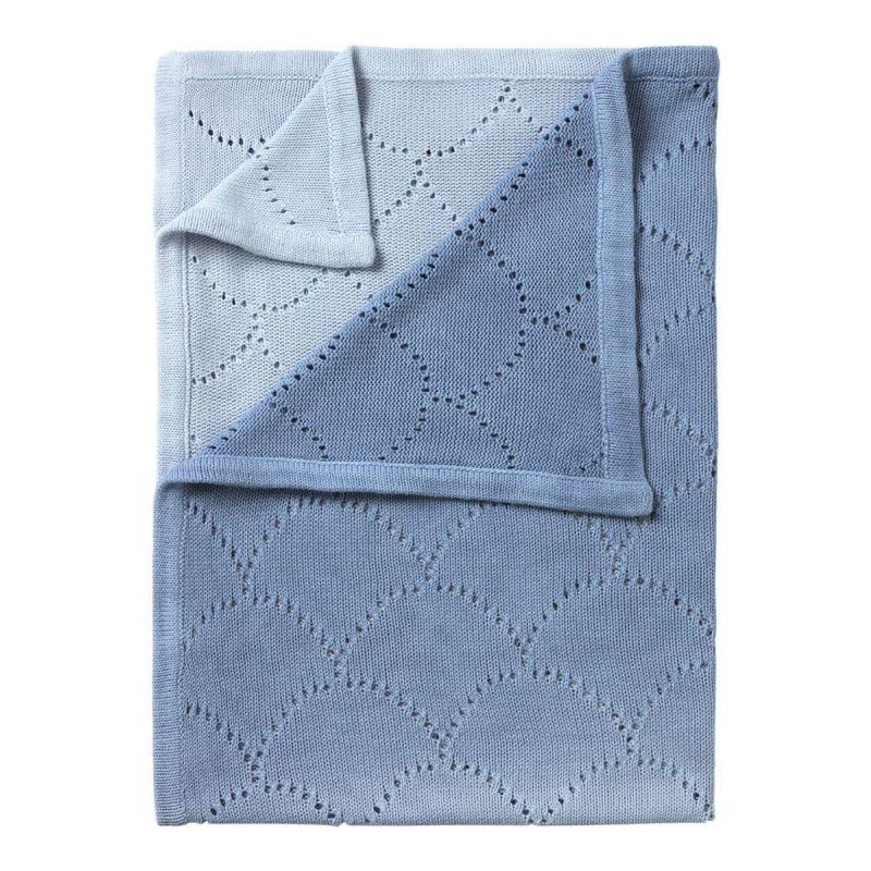 Manta calada de algodón para Bebés Dip Dye 70 x 90 cm - Clair de Lune