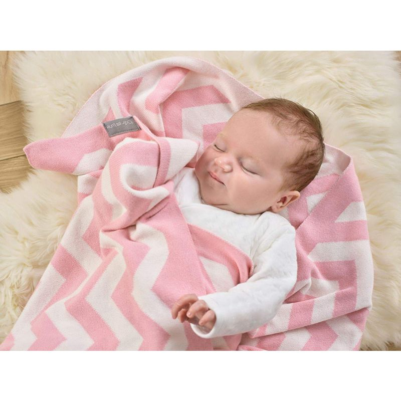 Manta para Bebé Chevron Clair de Lune - 70 x 90 cm color blush