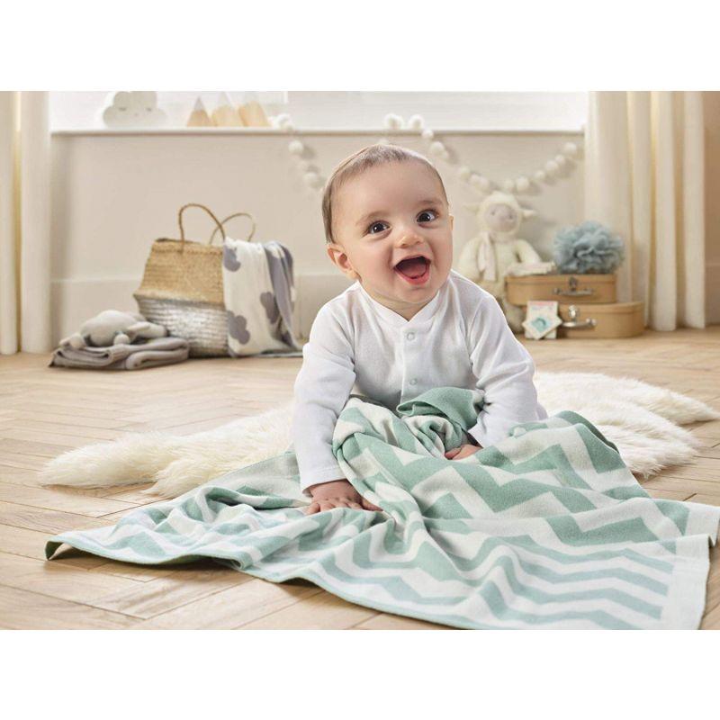 Manta para Bebé Chevron Clair de Lune - 70 x 90 cm color menta