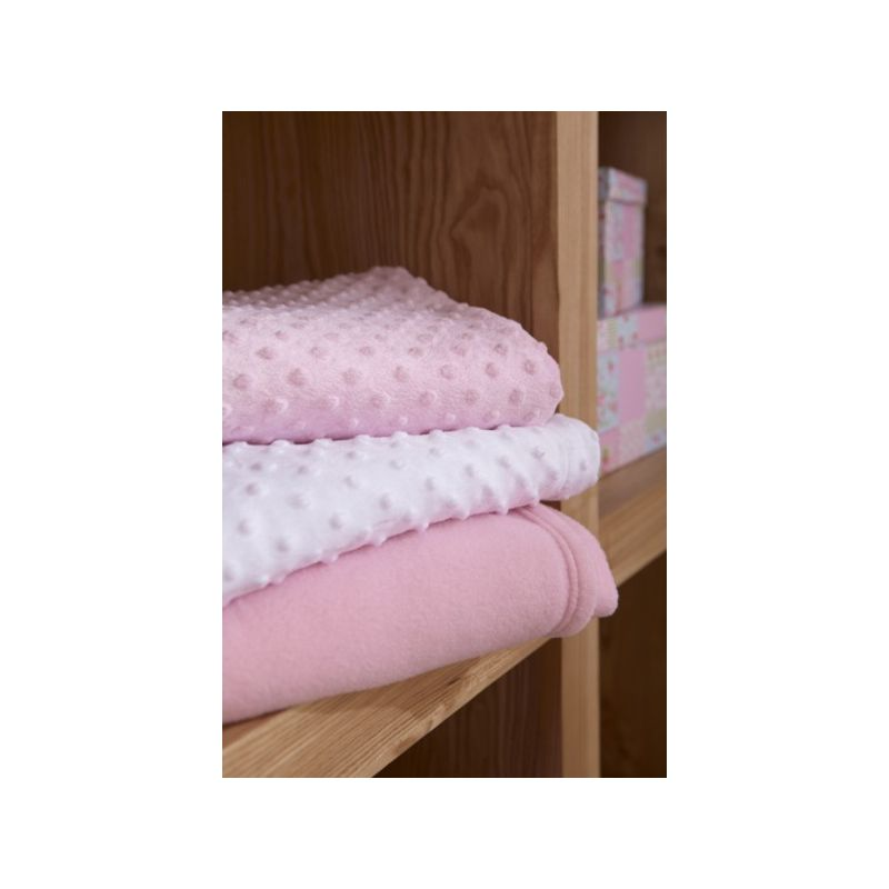 Manta 70 x 90 cm , modelo Dimple color rosa , Clair de Lune