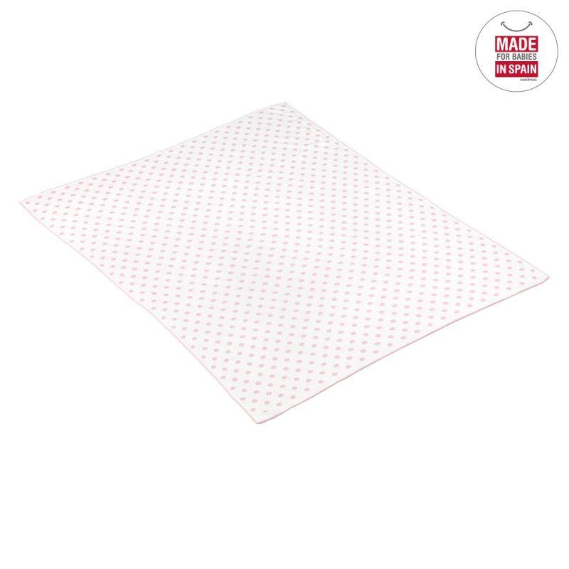 Manta de Algodón Doty rosa 80 x 100 cm - Cambrass