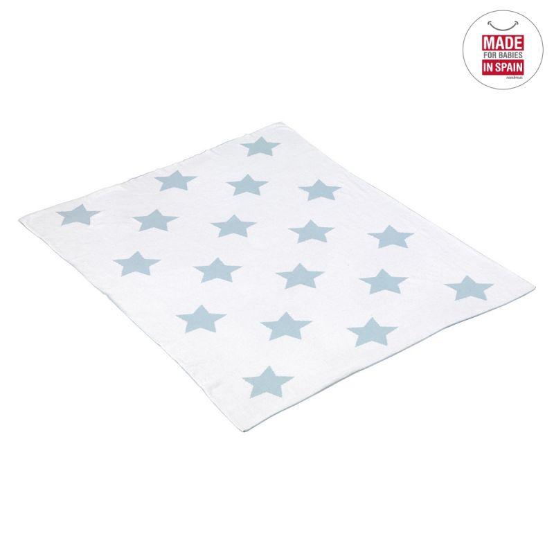 Manta de Algodón Estrellas azul 80 x 100 cm - Cambrass