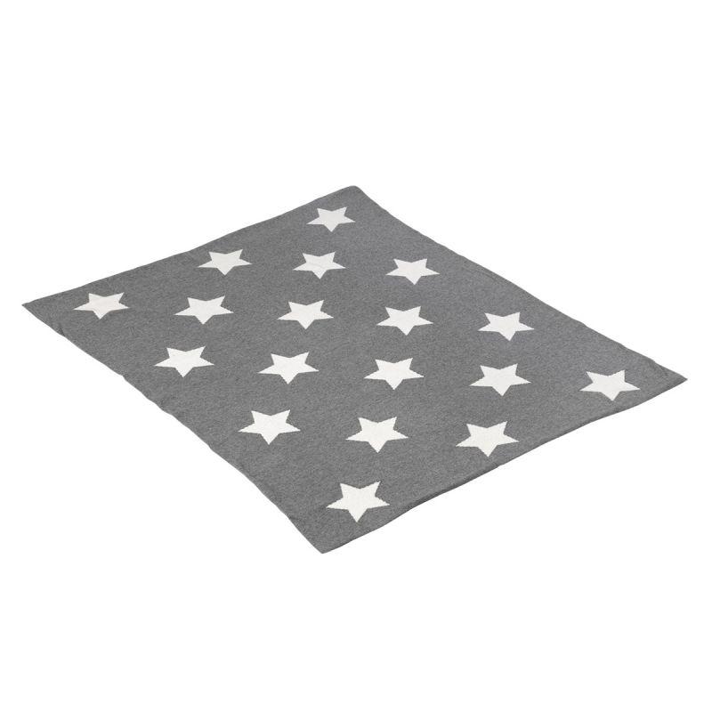 Manta de Algodón Estrellas gris 80 x 100 cm - Cambrass