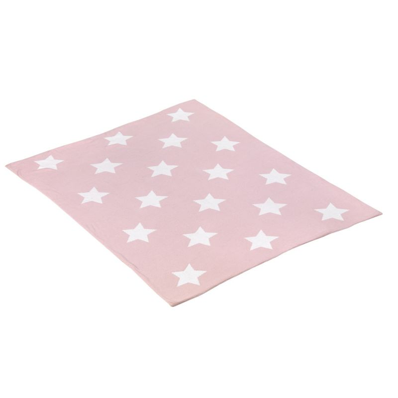 Manta de Algodón Estrellas rosa 80 x 100 cm - Cambrass