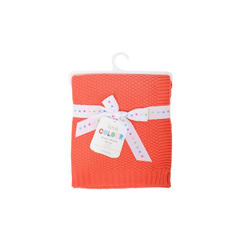 Manta de Algodón para Bebés Silvercloud color coral