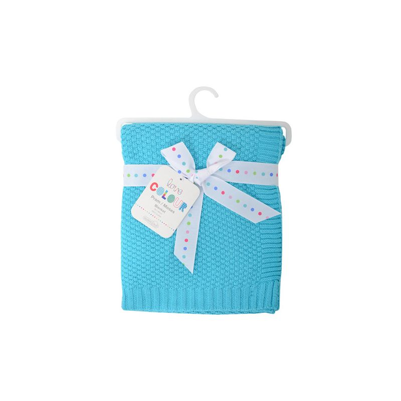 Manta de Algodón para Bebés Silvercloud color Turquesa