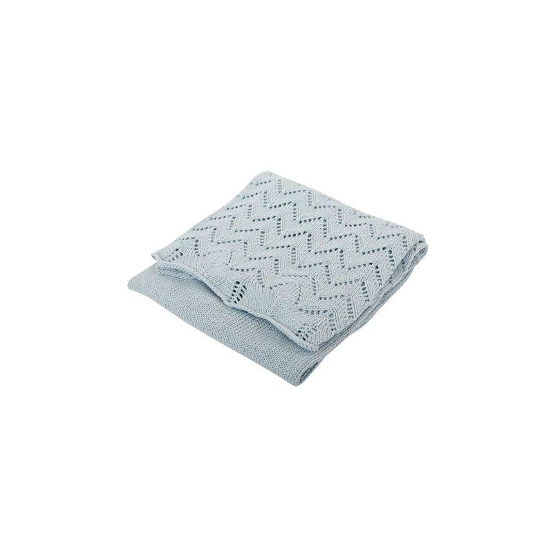 Manta azul para Bebés de Algodón - Silvercloud
