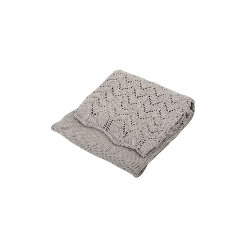 Manta gris para Bebés de Algodón - Silvercloud
