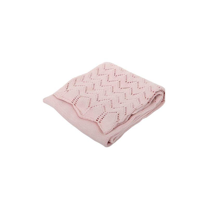 Manta rosa para Bebés de Algodón - Silvercloud