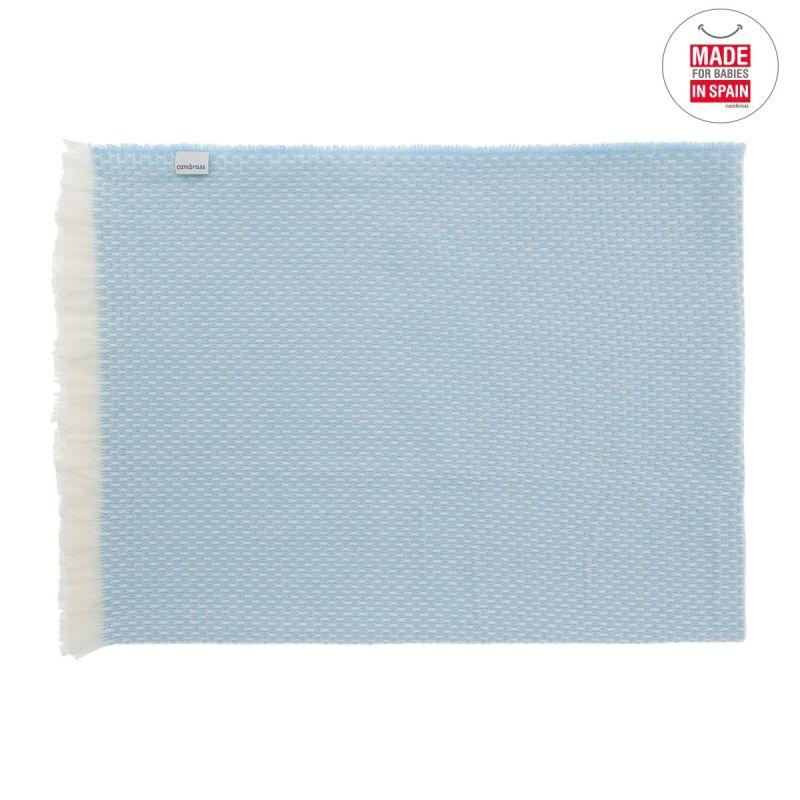 Manta Plaid azul 75 x 110 cm - Cambrass