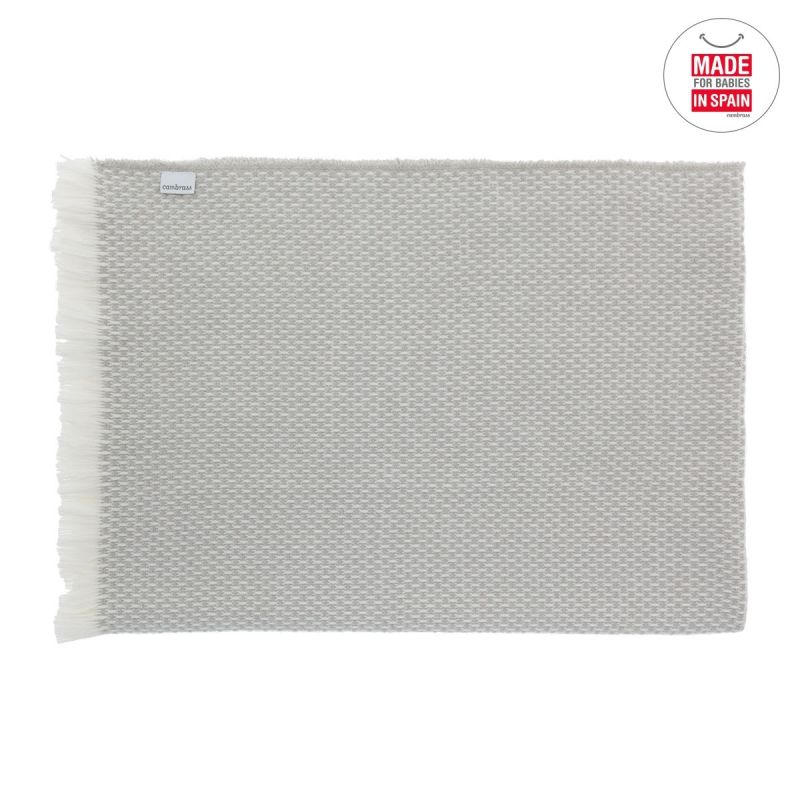 Manta Plaid gris 75 x 110 cm - Cambrass