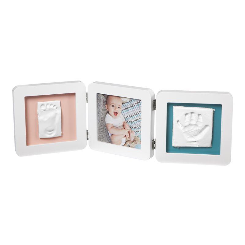 Baby Art. Marco triple para foto Huellas Bebé color blanco