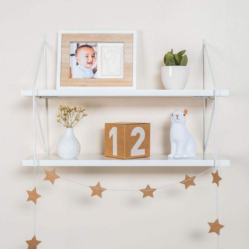 Marco de fotos para pie de Bebé Color Madera - Baby Art