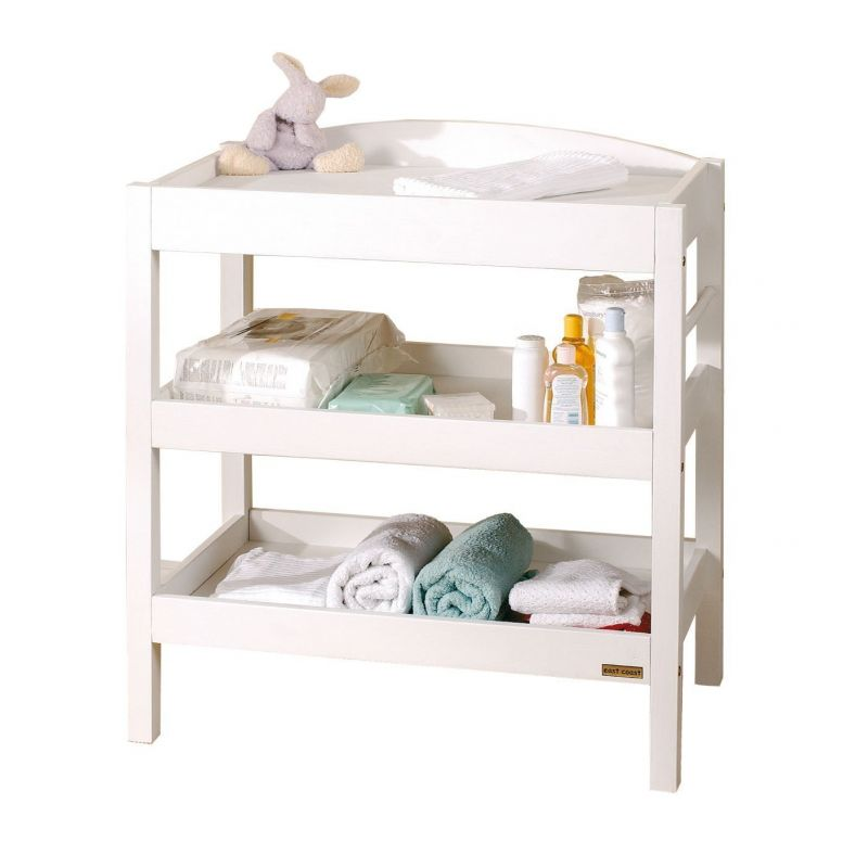 Mueble Cambiador Blanca para Bebés de  East Coast