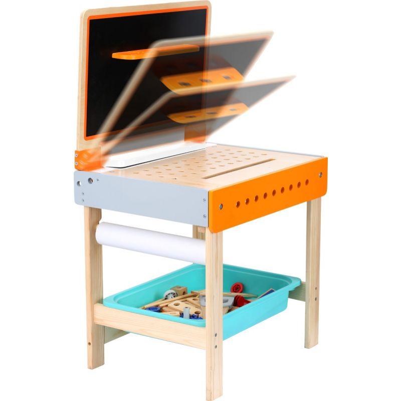 Mesa de herramientas con mesa para dibujar