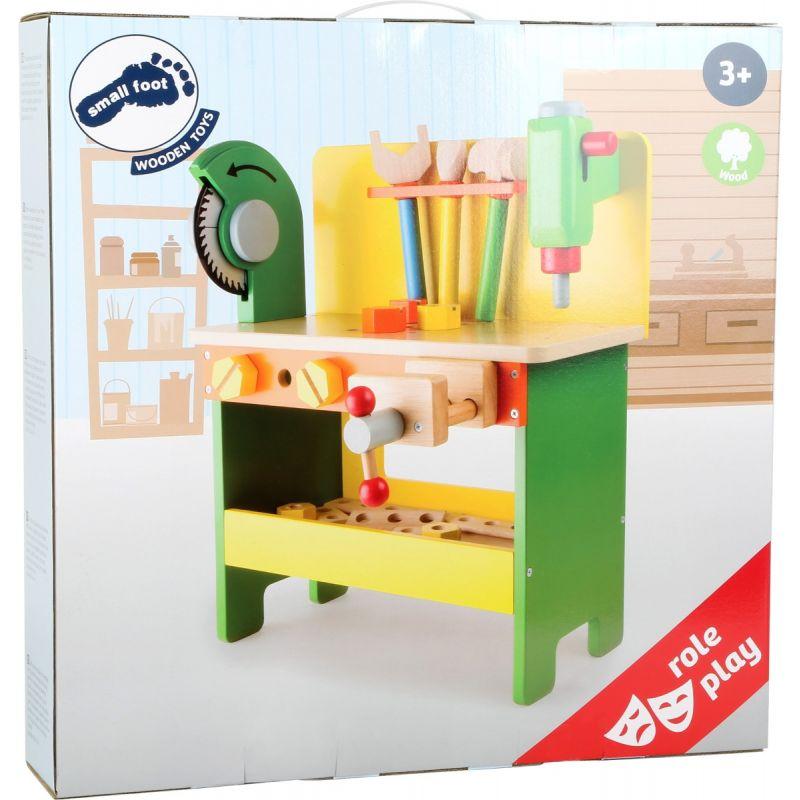 Mesa de herramientas para niños