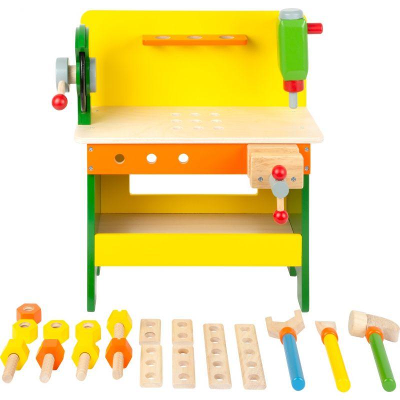 Mesa de herramientas de madera