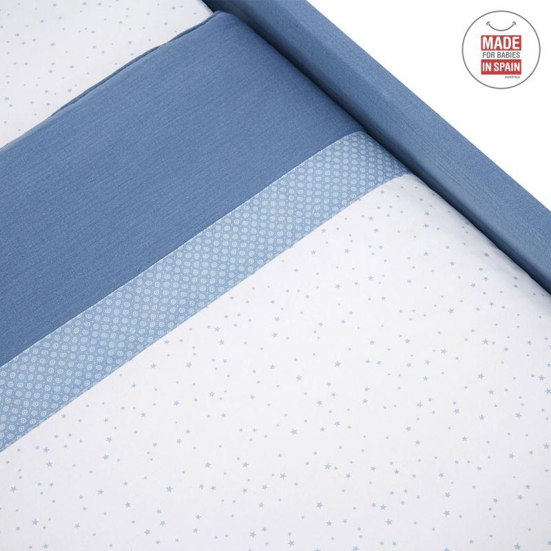 Minicuna cuadrada Next Astra azul cambrass