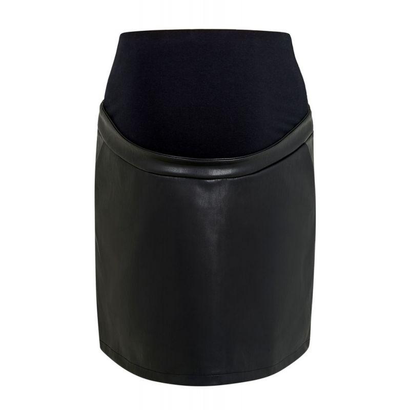 Minifalda Premamá Cuero Sintético