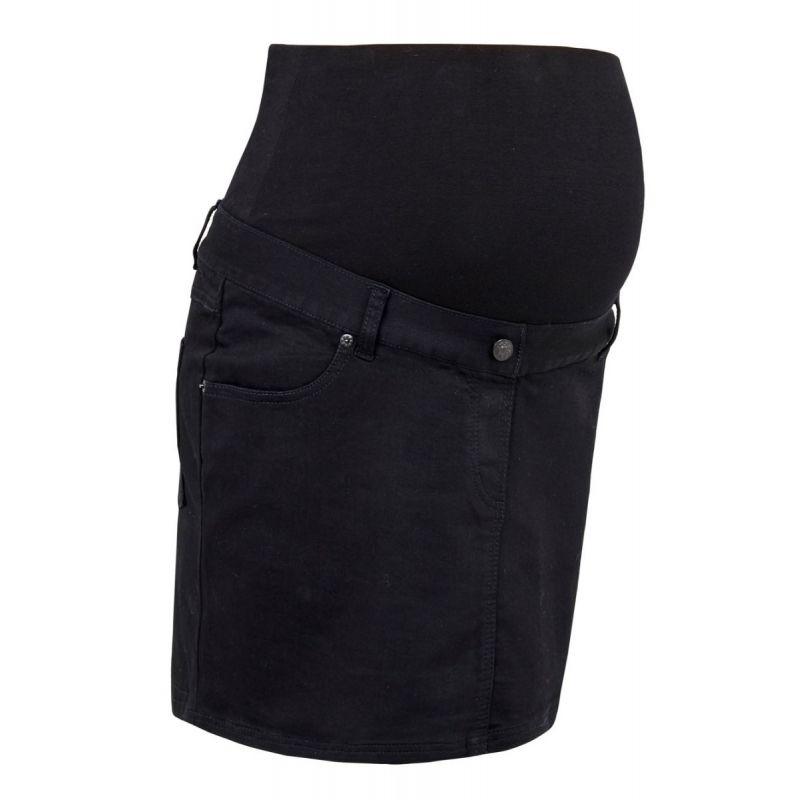 minifalda premama vaquera negra