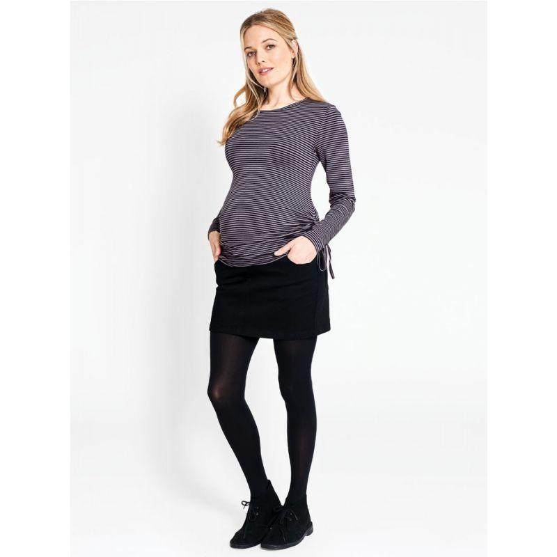 minifalda premamá negra