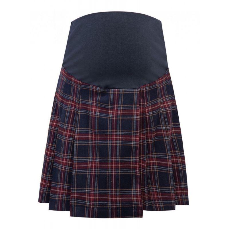 minifalda premamá escocesa