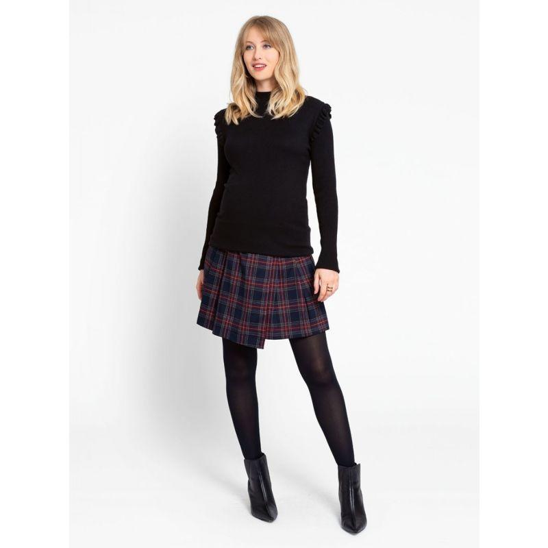 minifalda premama escocesa