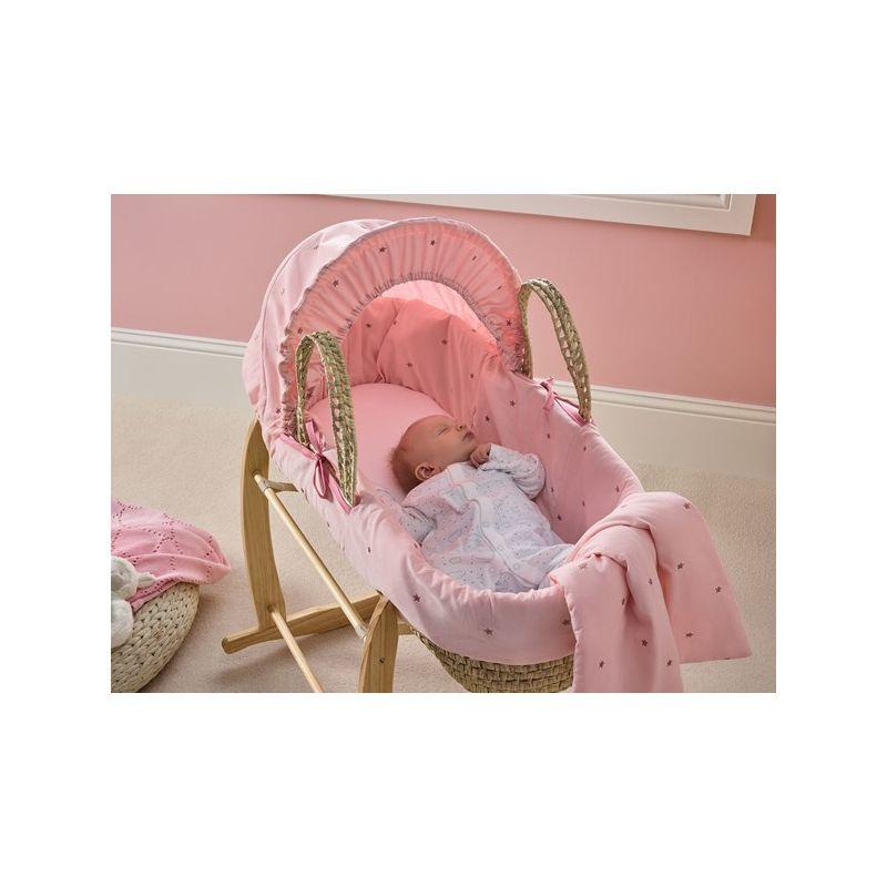 Moisés Bebé de Palma Lullaby Stars rosa - Clair de Lune