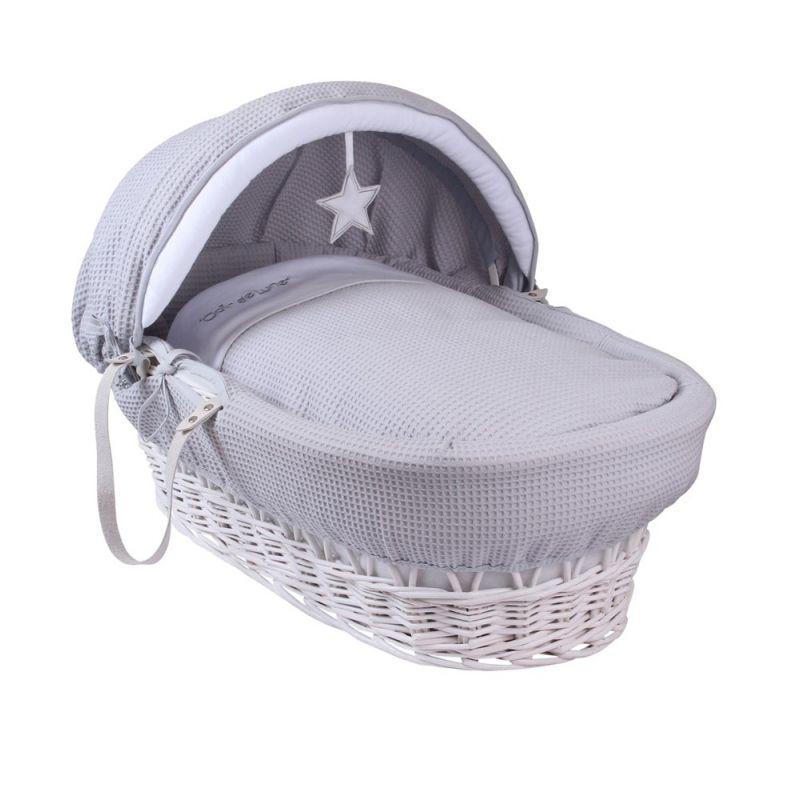 Moises Mimbre blanco Estrella vestiduras grises - Clair de Lune