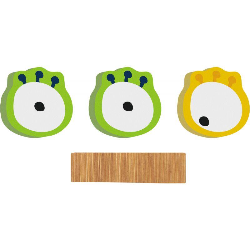 decoración letra de bambu monstruo eyes