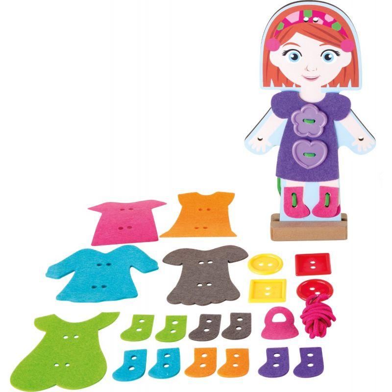 Muñeca para vestir - Juguete de Enhebrar