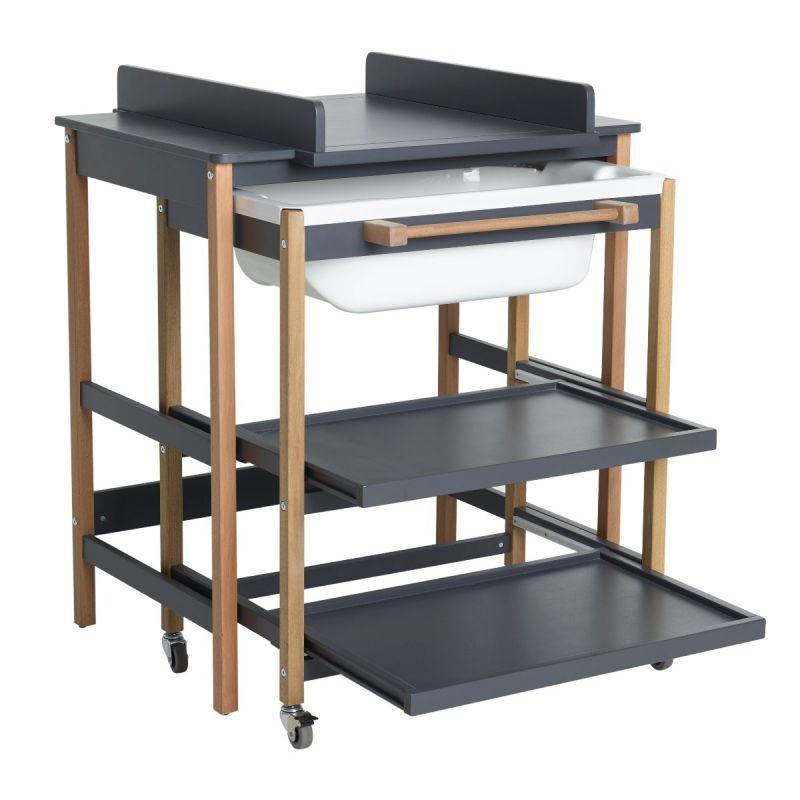 Mueble Baño Cambiador con Bañera Quax Comfort Smart Moonshadow
