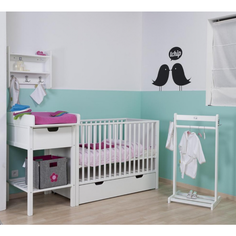 Mueble cambiador con ruedas para Bebé– Childhome