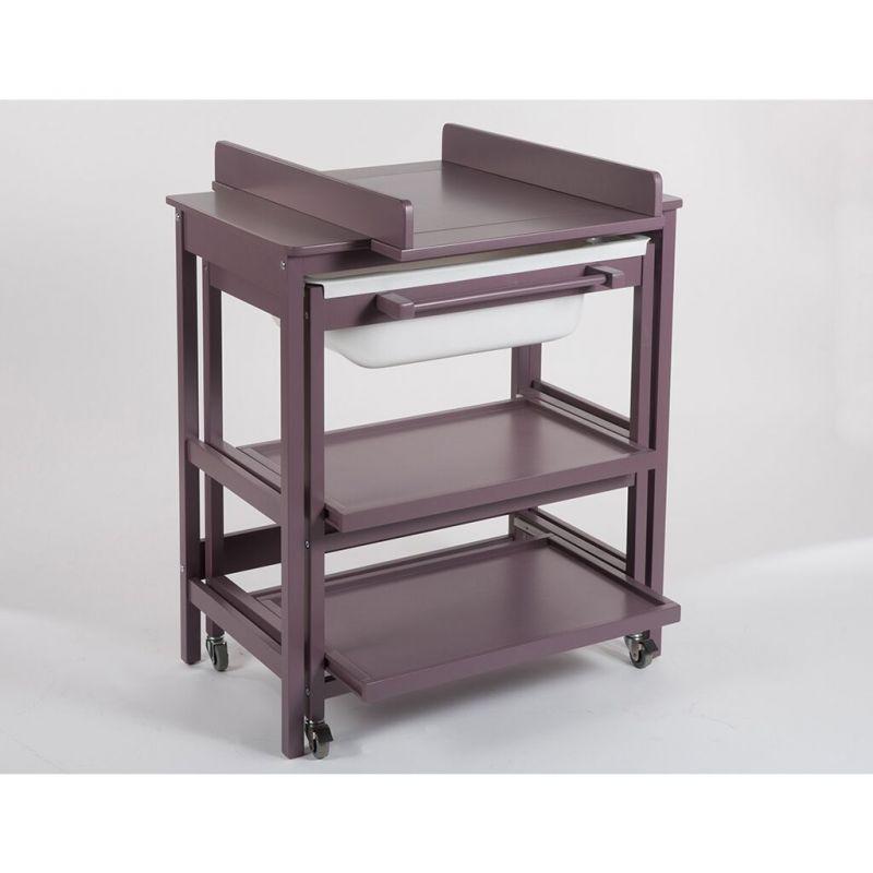 Mueble de Baño Cambiador con Bañera Quax Comfort Smart Lavanda