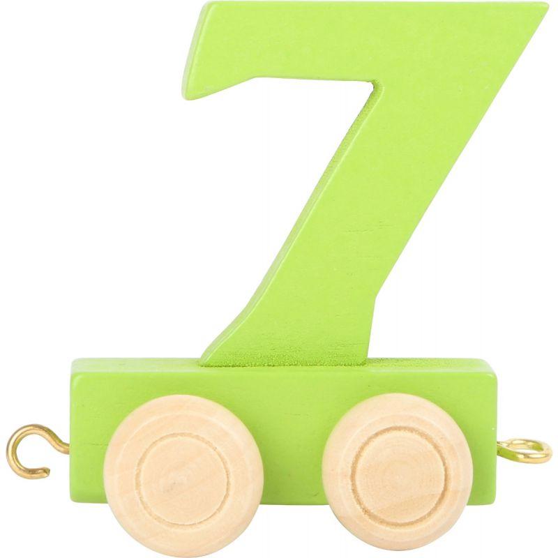 numero 7 de madera Tren de números de colores