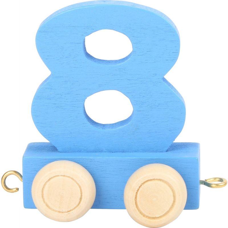 numero 8 de madera Tren de números de colores