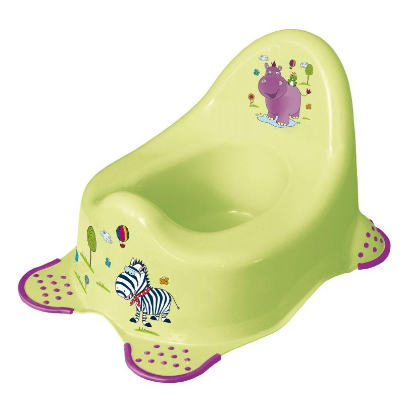 Orinal Infantil con Diseño de Hipopótamo en Color Verde