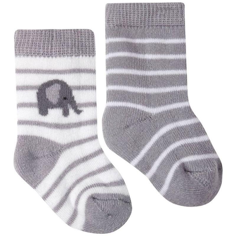 Calcetines a rayas grises para bebé