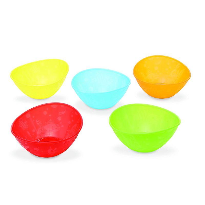 Pack de 5 boles para comida infantil de la marca Munchkin