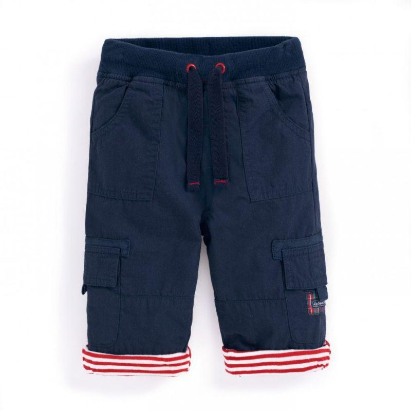 Pantalón Algodón Forrado para Niño color navy