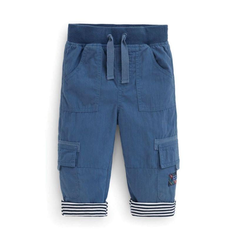 Pantalón Algodón Forrado para Niño color indigo