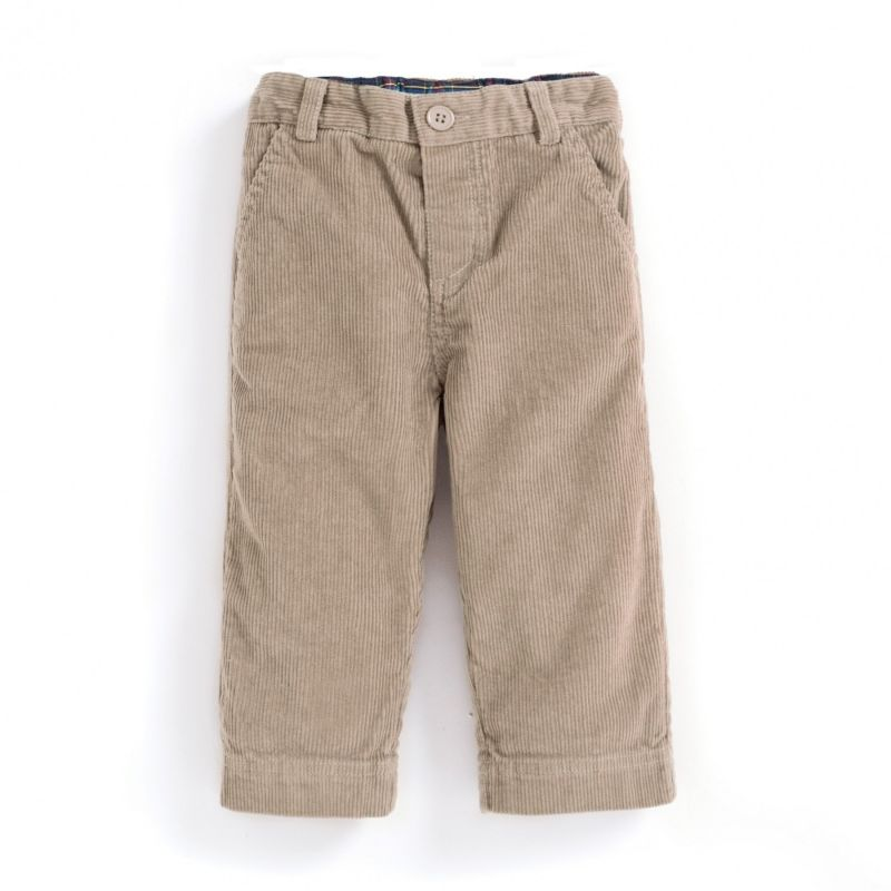 Pantalón de Pana Clásico para Niño color piedra