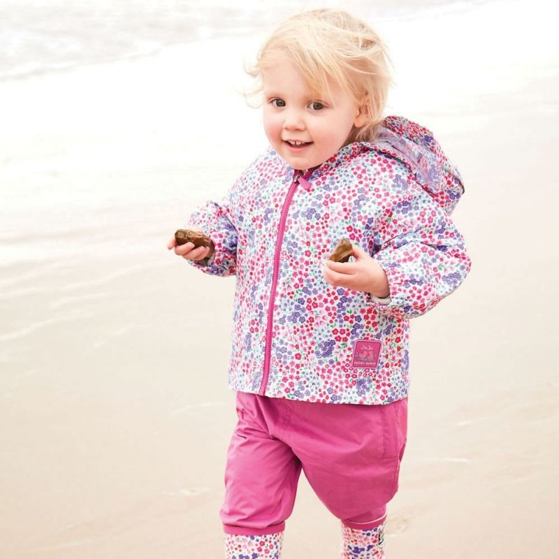 Pantalón Impermeable Bebés y Niños en color rosa