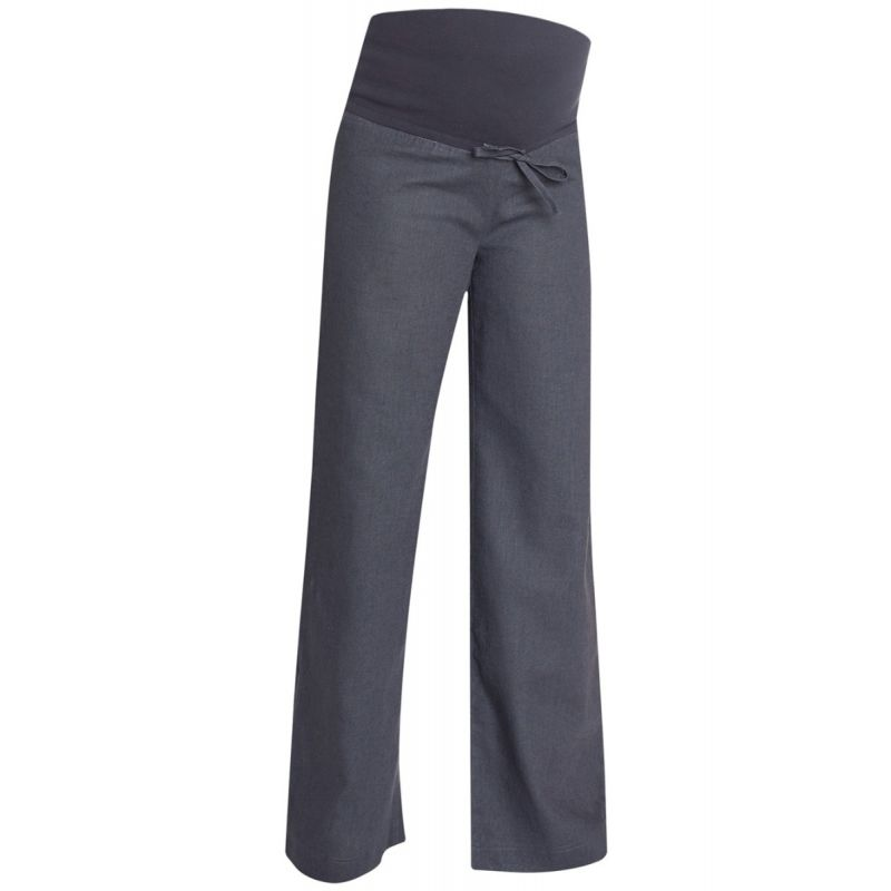 Pantalón Premamá de Lino color carbon