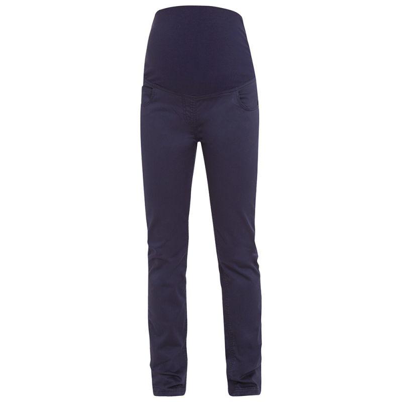 Pantalón Premamá de Lino Azul Marino