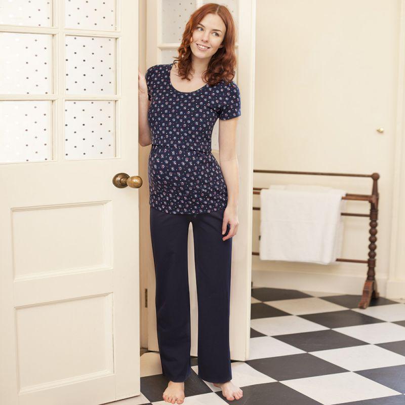 Pijama Premamá Azul Marino